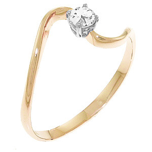 Round Cut Diamond Ring 0.15 ct in 9ct Rose Gold