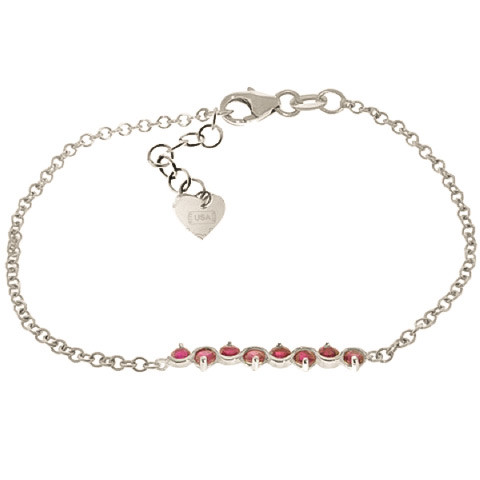 Ruby Adjustable Bracelet 1.55 ctw in 9ct White Gold