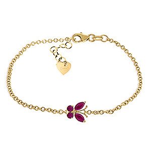 Ruby Adjustable Butterfly Bracelet 0.6 ctw in 9ct Gold