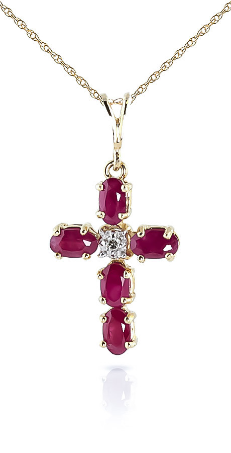Ruby diamond rio cross pendant necklace in 9ct gold 1694y qp ruby diamond rio cross pendant necklace in 9ct gold aloadofball Choice Image