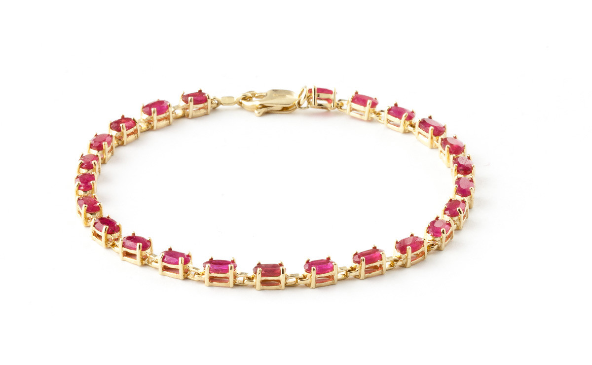 Ruby Infinite Tennis Bracelet 8 ctw in 9ct Gold
