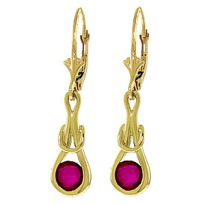 Ruby San Francisco Drop Earrings 1.3 ctw in 9ct Gold