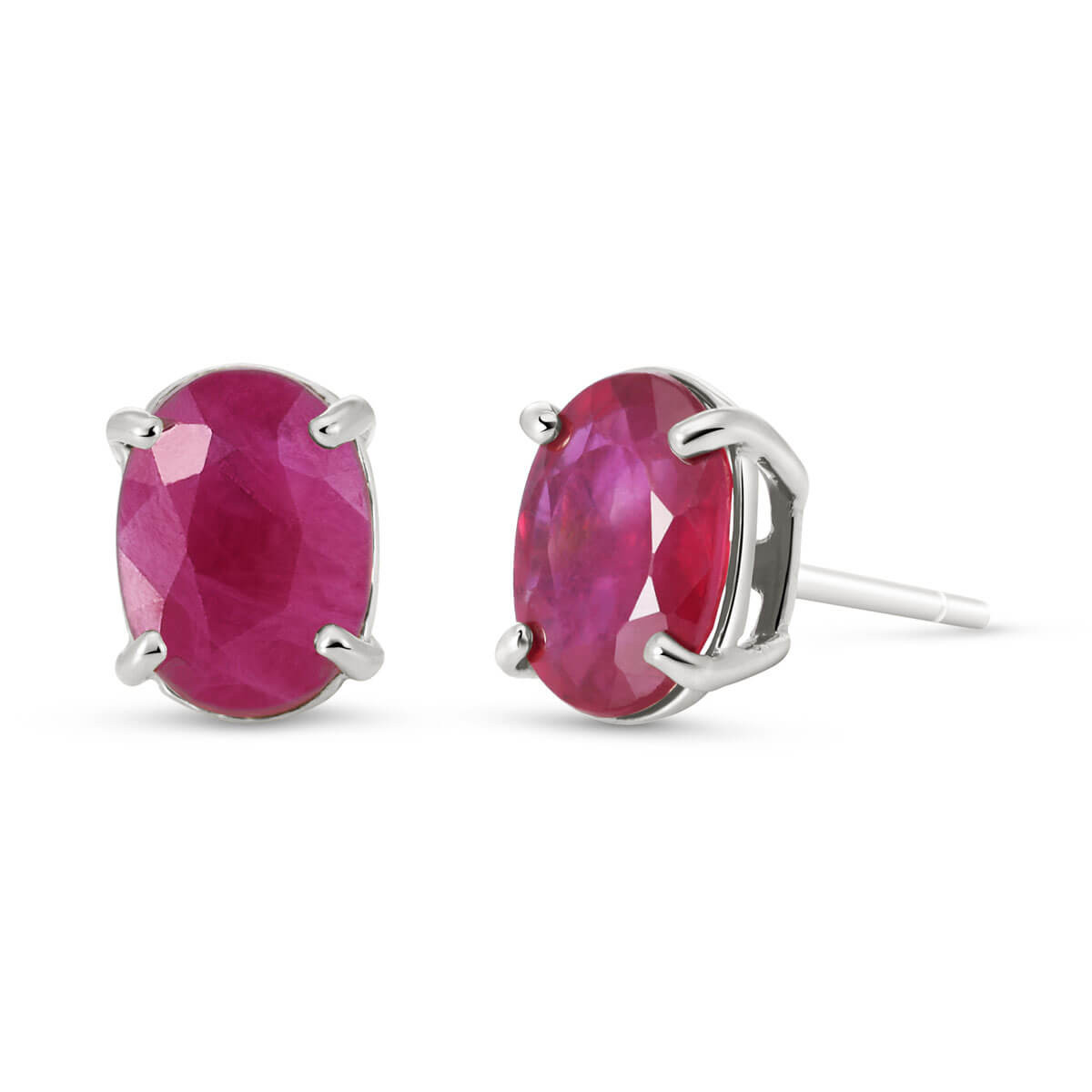Ruby Stud Earrings 1.8 ctw in 9ct White Gold