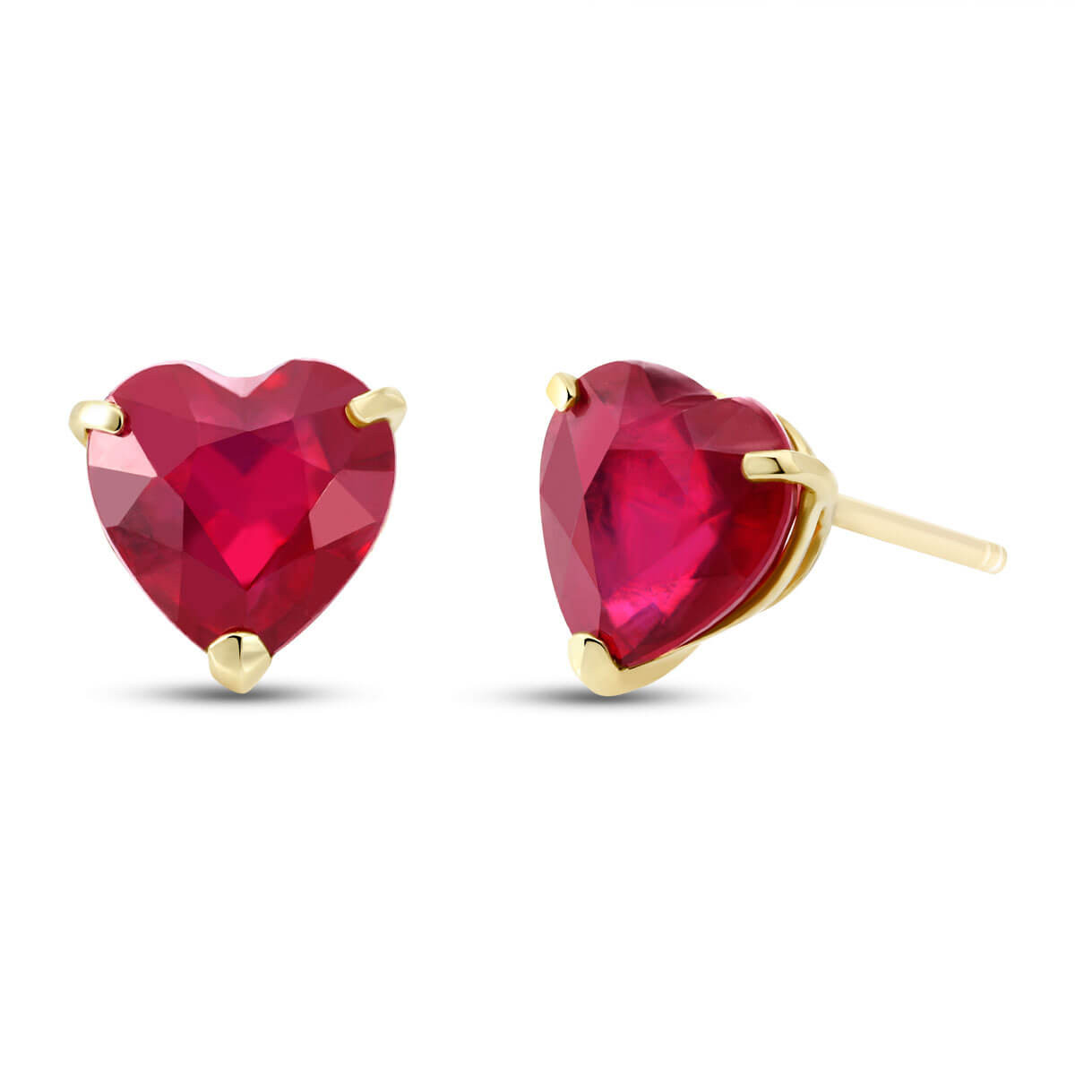 Ruby Stud Earrings 2.9 ctw in 9ct Gold
