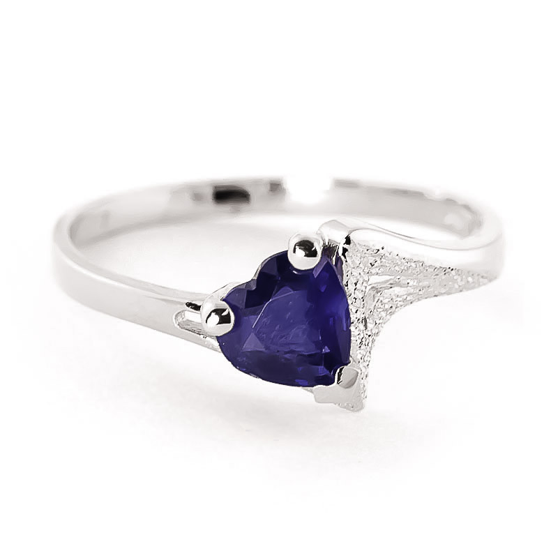Sapphire Devotion Ring 1 ct in 9ct White Gold