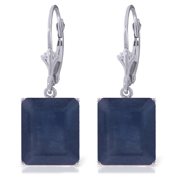 Sapphire Drop Earrings 14 ctw in 9ct White Gold