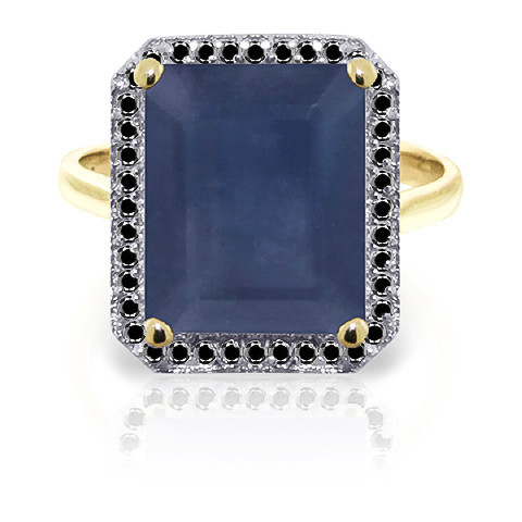 Sapphire Halo Ring 6.6 ctw in 9ct Gold
