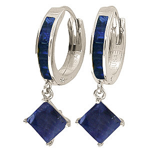 Sapphire Huggie Hoop Earrings 1.3 ctw in 9ct White Gold