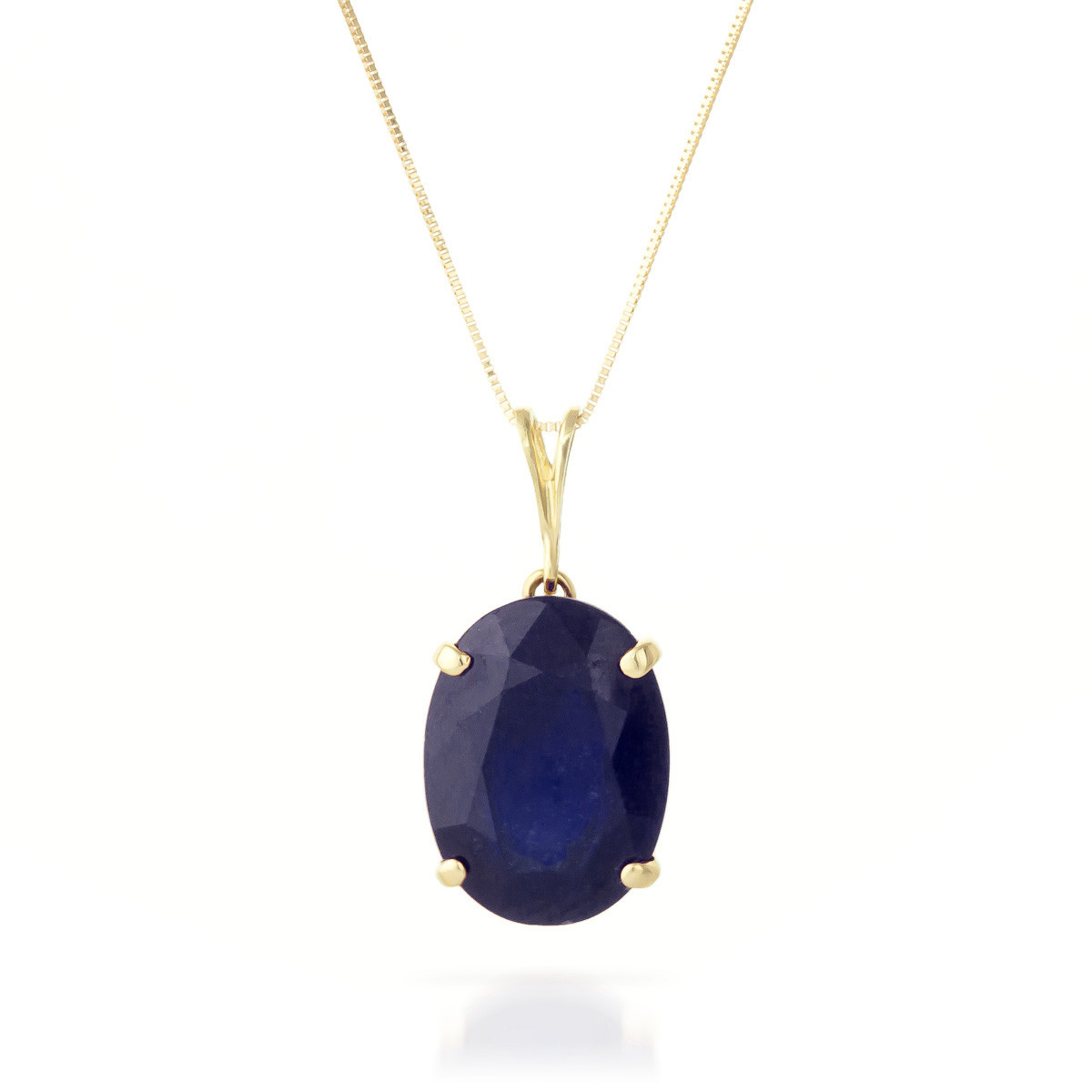 Sapphire Oval Pendant Necklace 8.5 ct in 9ct Gold - 2553Y ...