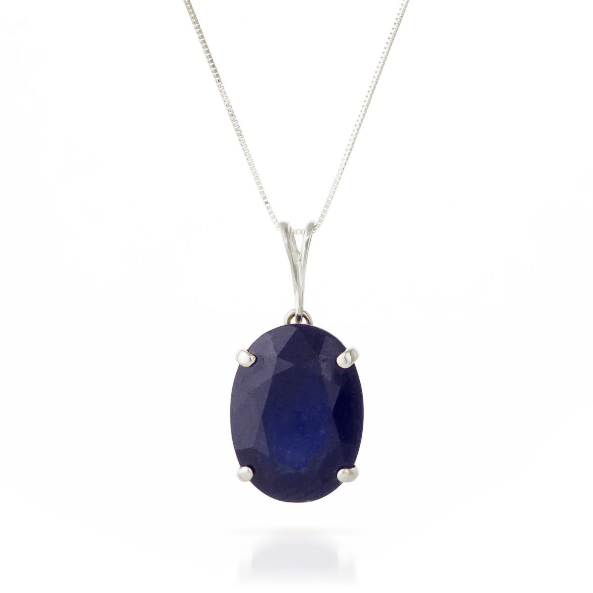 Sapphire oval pendant necklace 85 ct in 9ct white gold 2553w qp sapphire oval pendant necklace 85 ct in 9ct white gold aloadofball Choice Image