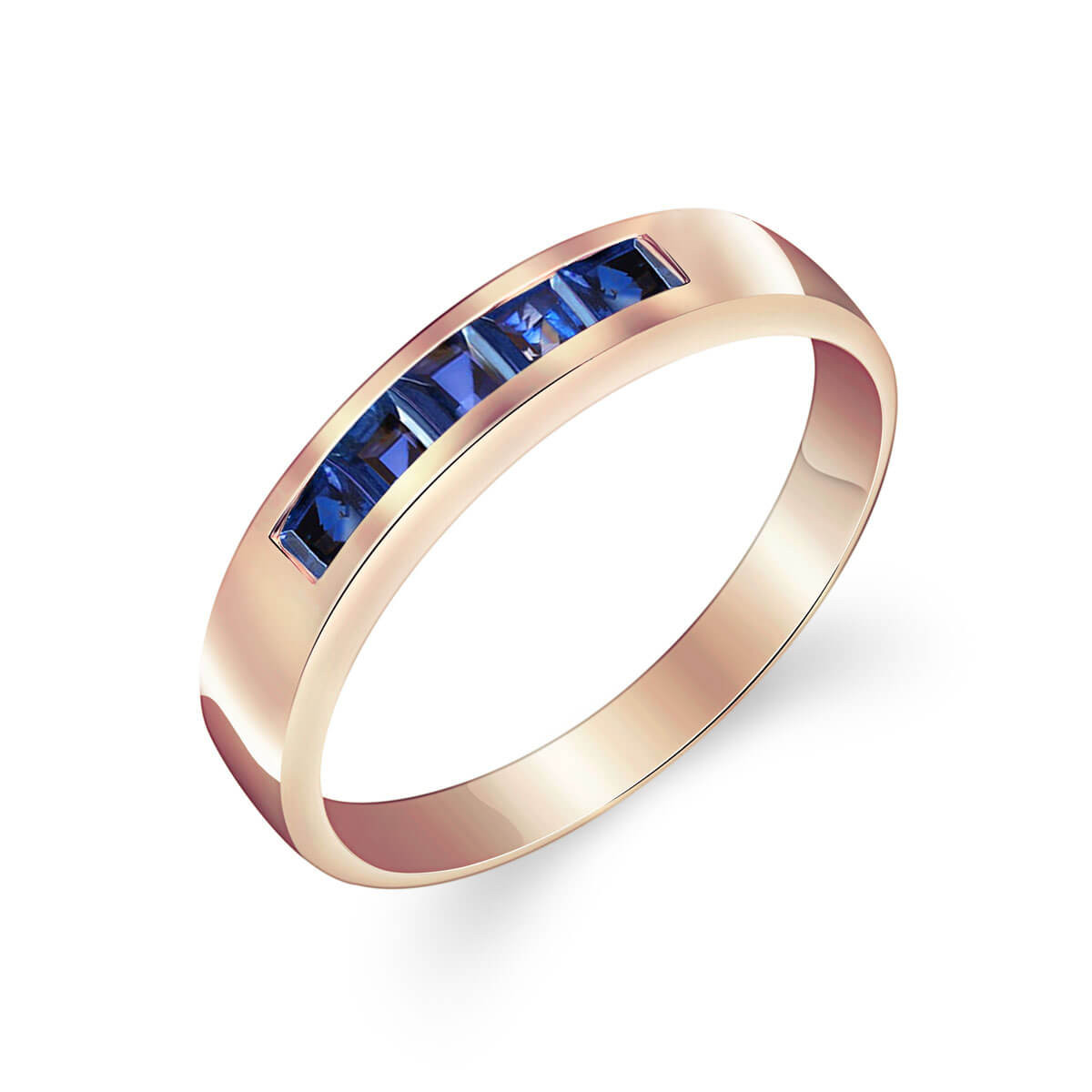 Sapphire Princess Prestige Ring 0.6 ctw in 9ct Rose Gold