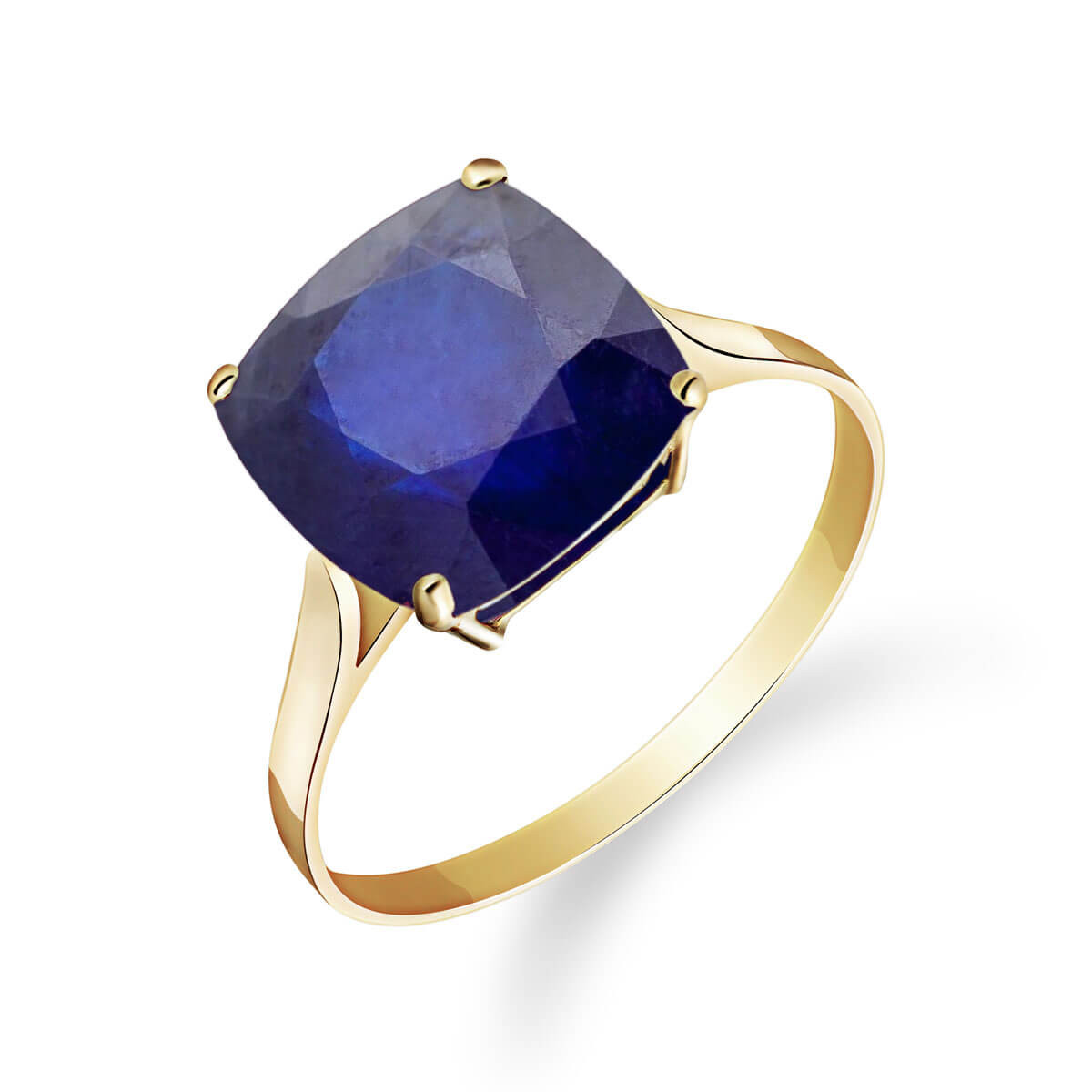 Sapphire Rococo Ring 4.83 ct in 9ct Gold