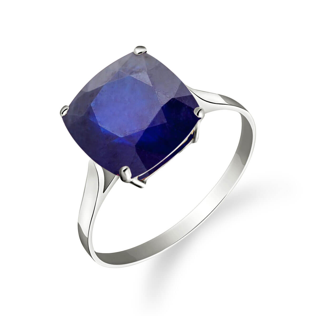 Sapphire Rococo Ring 4.83 ct in 9ct White Gold