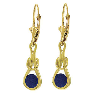 Sapphire San Francisco Drop Earrings 1.3 ctw in 9ct Gold