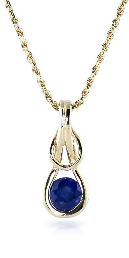 Sapphire San Francisco Pendant Necklace 0.65 ct in 9ct Gold