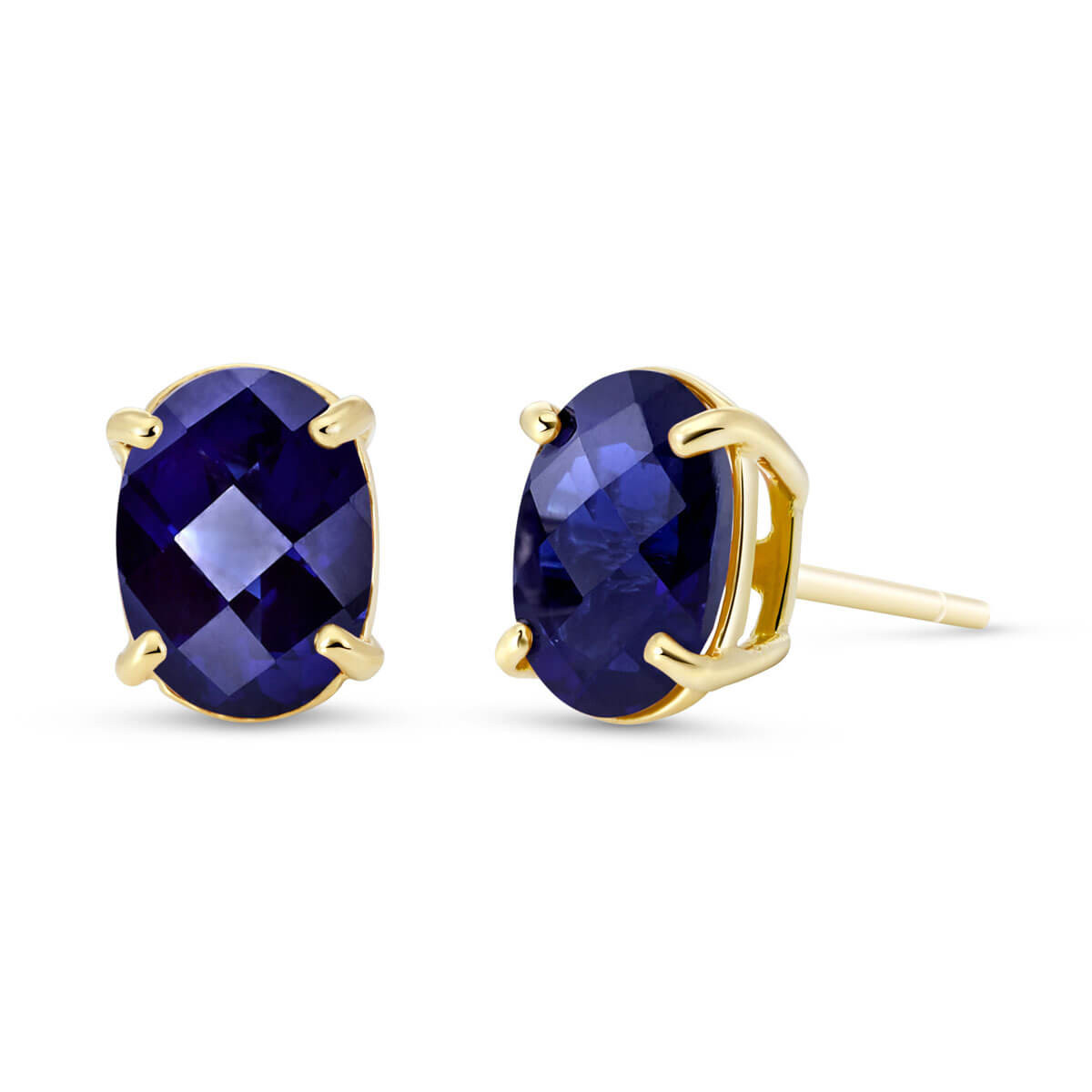 Sapphire Stud Earrings 2 ctw in 9ct Gold