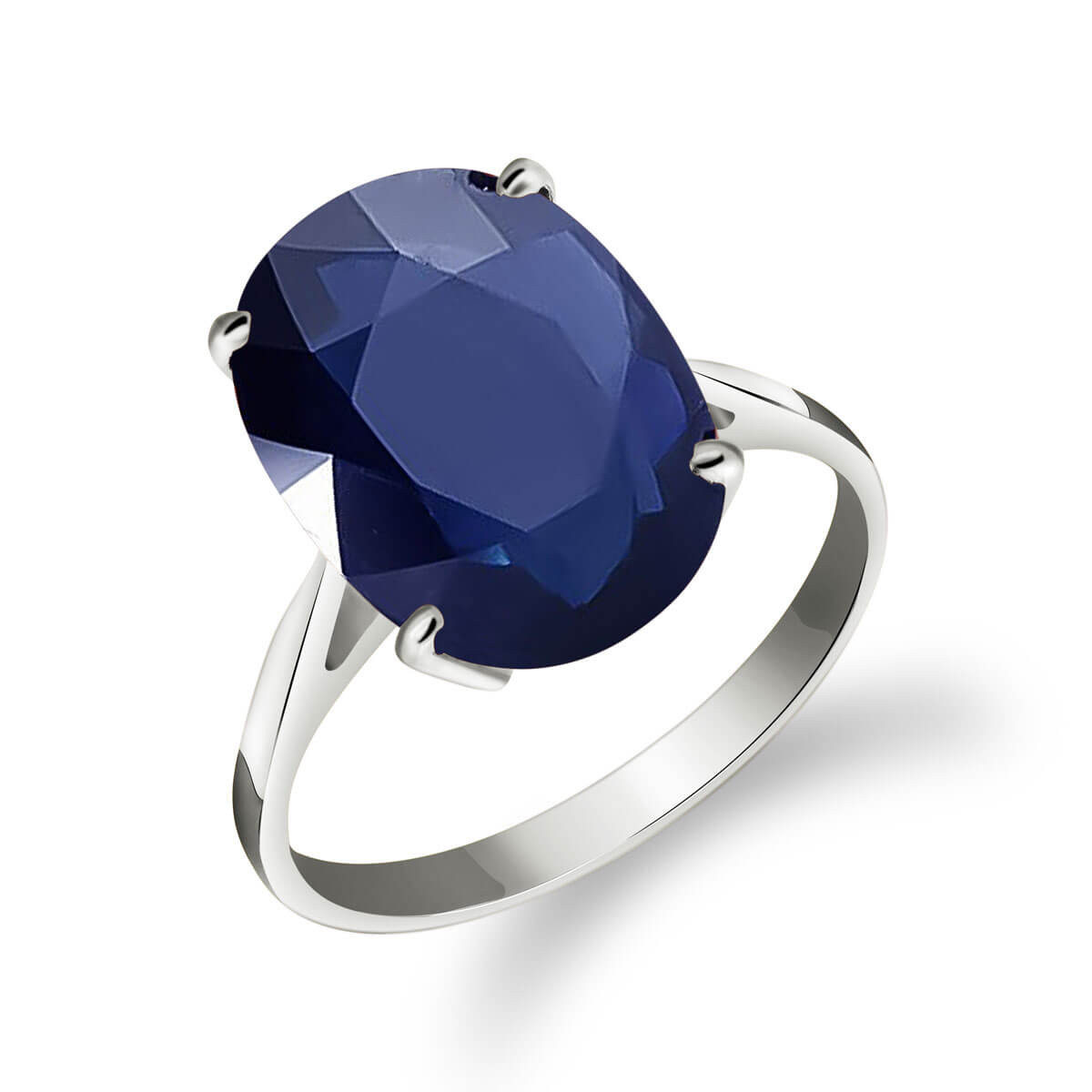 Sapphire Valiant Ring 8.5 ct in Sterling Silver