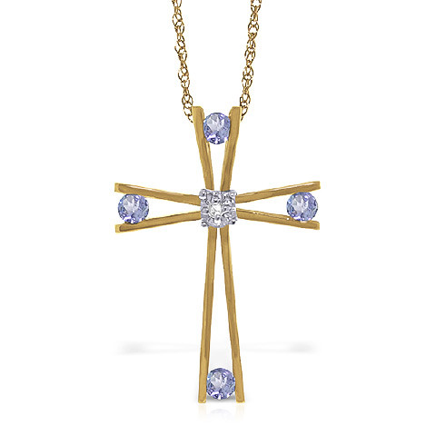 Tanzanite cross pendant necklace 053 ctw in 9ct gold 5227y qp tanzanite cross pendant necklace 053 ctw in 9ct gold aloadofball Choice Image