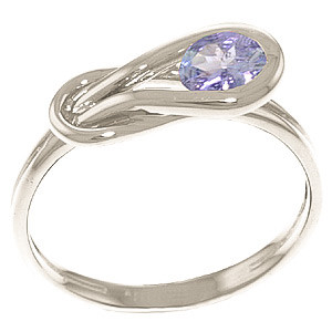 Tanzanite San Francisco Ring 0.65 ct in 9ct White Gold