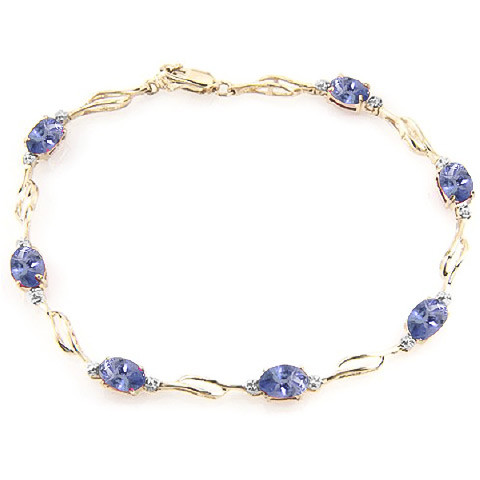 Tanzanite Tennis Bracelet 3.01 ctw in 9ct Gold