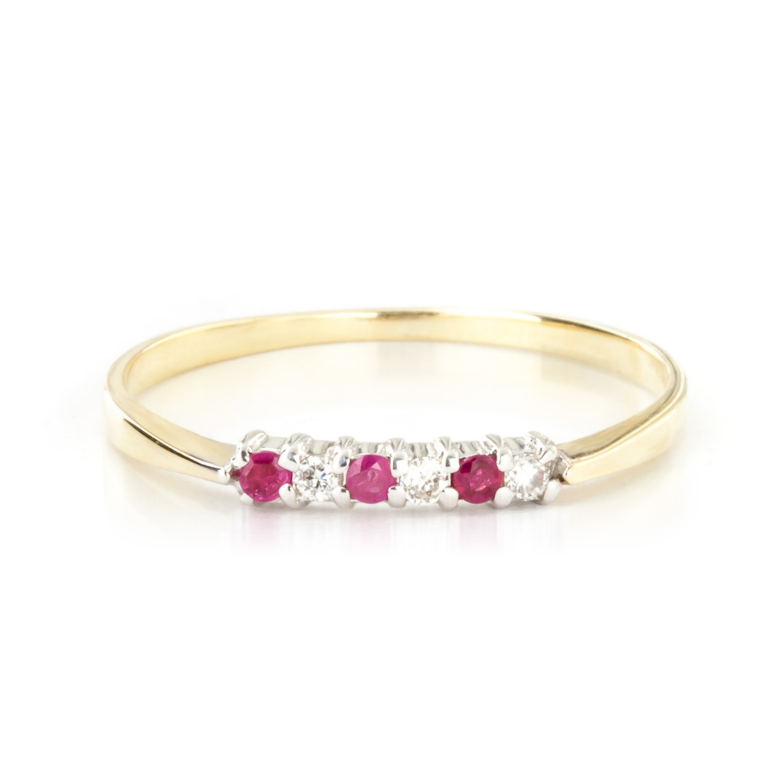 Diamond & Ruby Eternity Ring in 18ct Gold