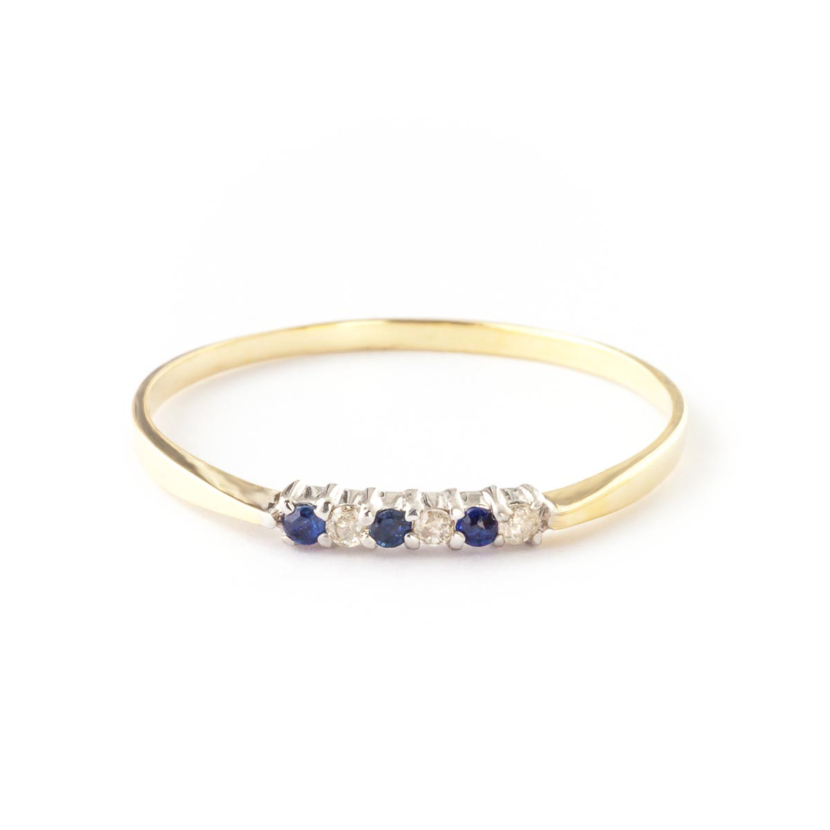 Diamond & Sapphire Eternity Ring in 9ct Gold