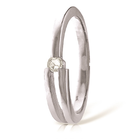 Diamond Channel Set Ring 0.1 ct in 18ct White Gold