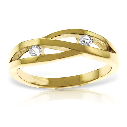 Diamond Channel Set Ring 0.1 ctw in 18ct Gold