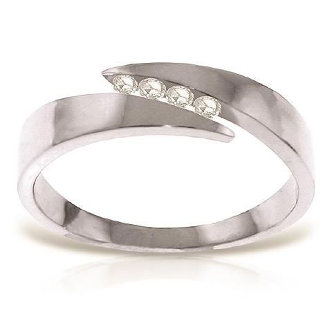Diamond Channel Set Ring 0.12 ctw in Sterling Silver