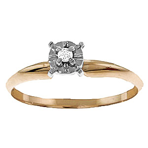 Diamond Crown Solitaire Ring 0.03 ct in 9ct Gold