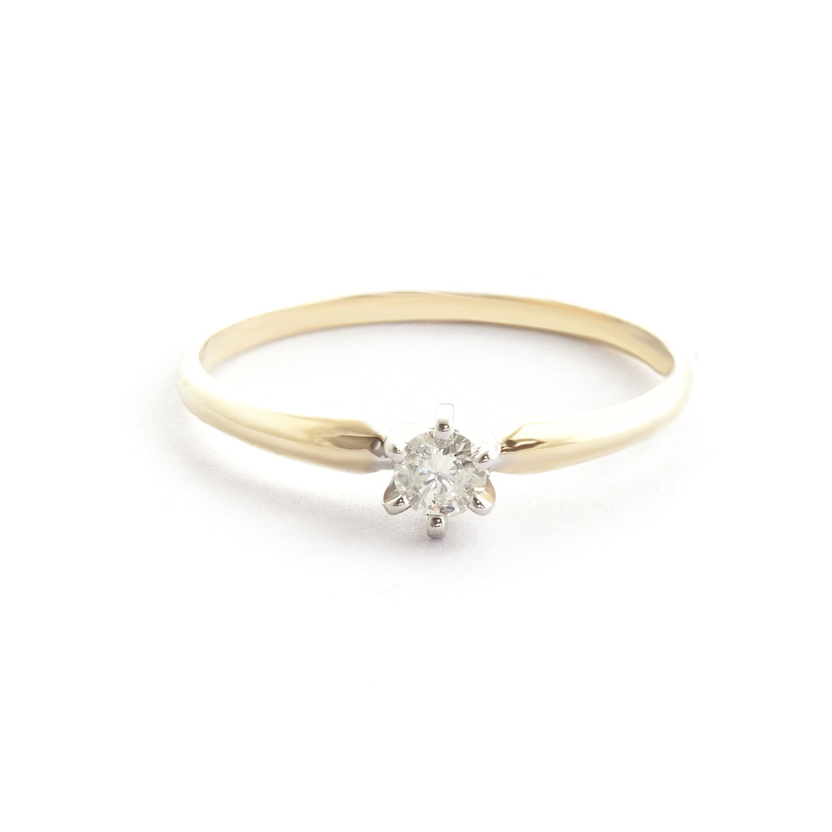 Diamond Crown Solitaire Ring 0.15 ct in 18ct Gold