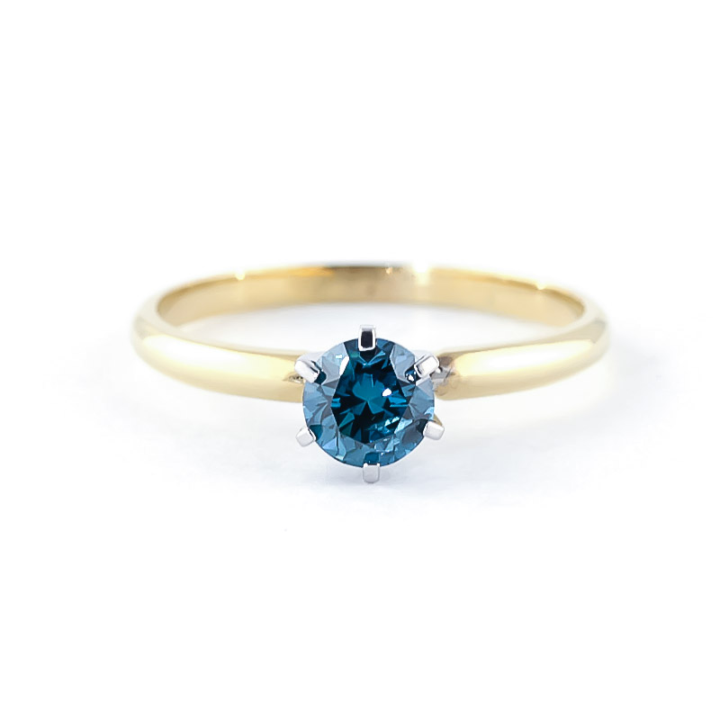 Diamond Crown Solitaire Ring 0.5 ct in 18ct Gold