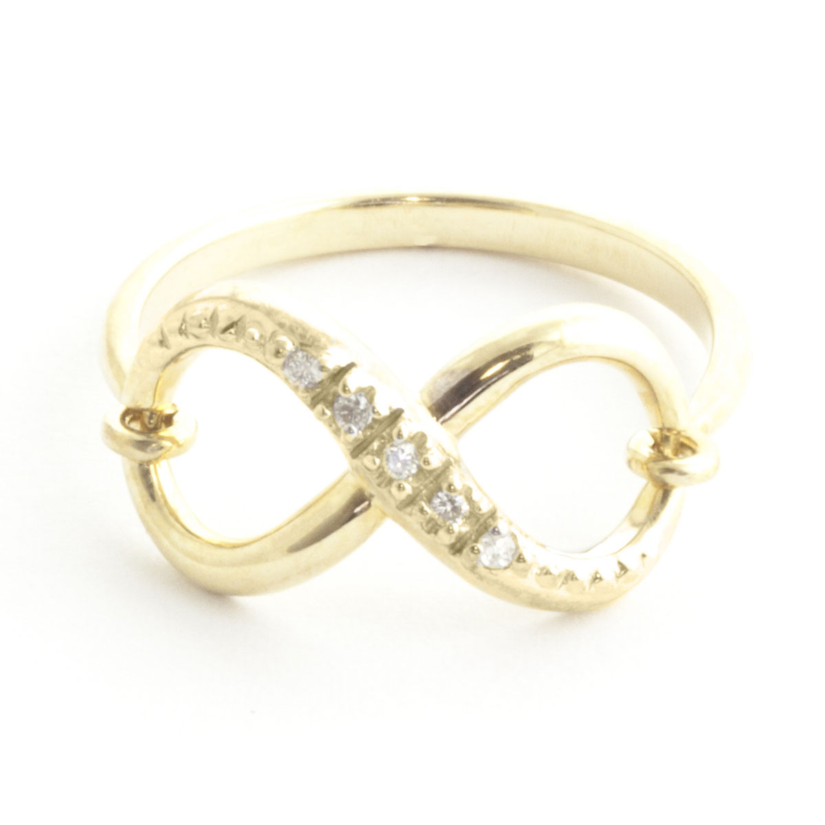 Diamond Infinite Ring 0.03 ctw in 9ct Gold
