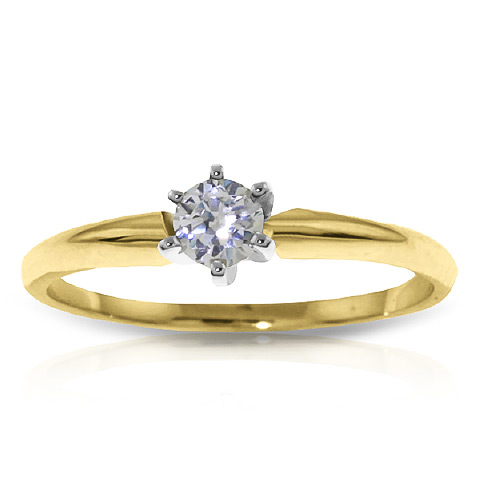 Diamond Solitaire Ring 0.15 ct in 18ct Gold