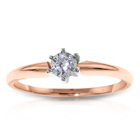 Diamond Solitaire Ring 0.15 ct in 18ct Rose Gold