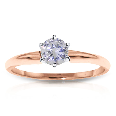 Diamond Solitaire Ring 0.35 ct in 9ct Rose Gold