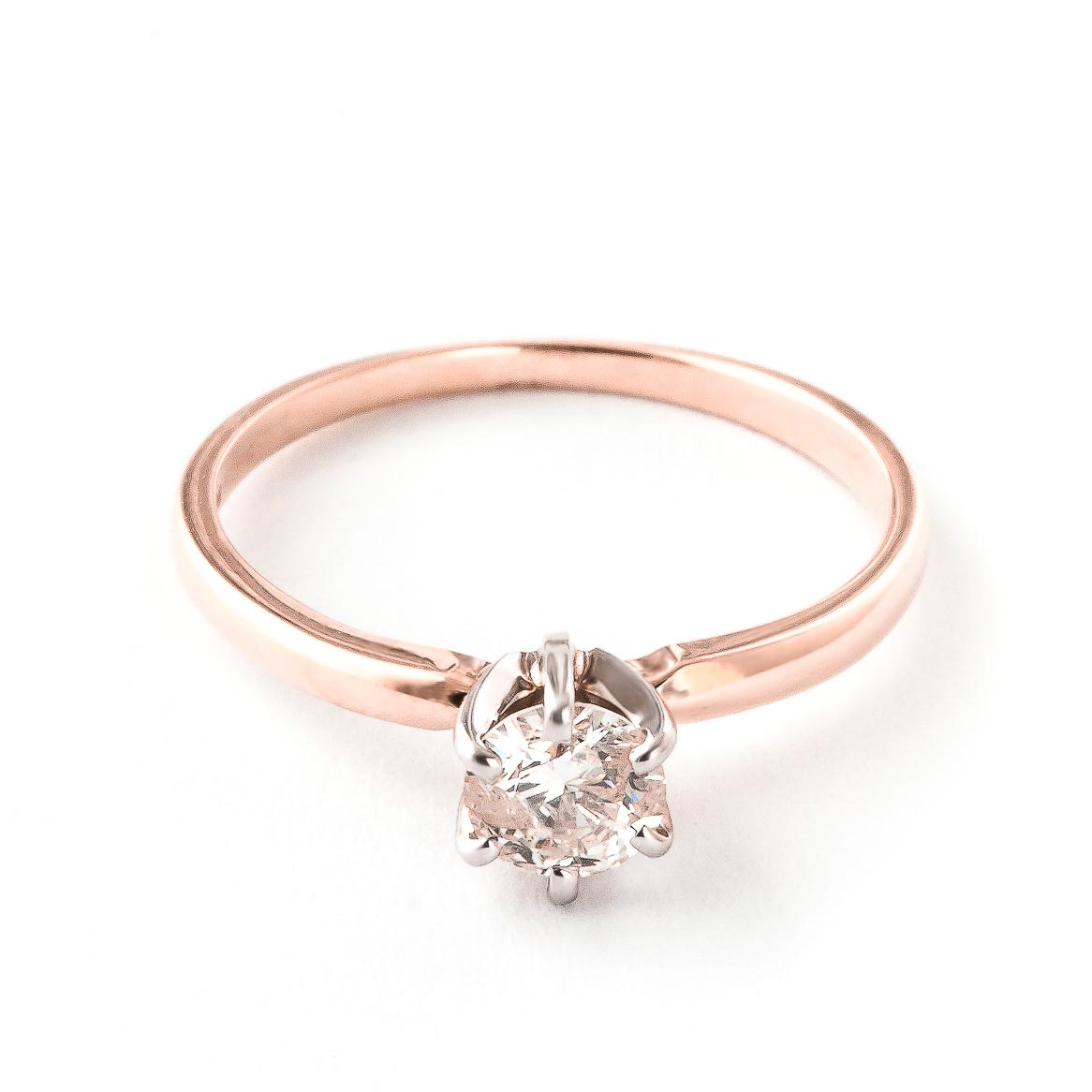 Diamond Solitaire Ring 0.4 ct in 18ct Rose Gold