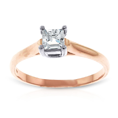 Diamond Solitaire Ring 0.5 ct in 18ct Rose Gold