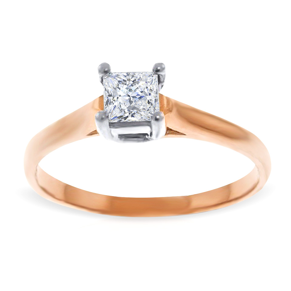 Diamond Solitaire Ring 0.5 ct in 9ct Rose Gold