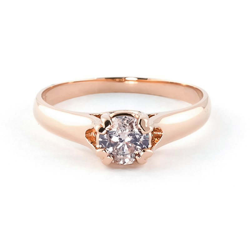 Diamond Solitaire Ring in 18ct Rose Gold