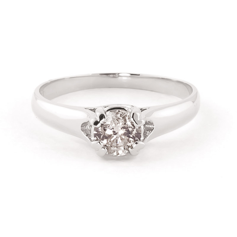Diamond Solitaire Ring in 18ct White Gold