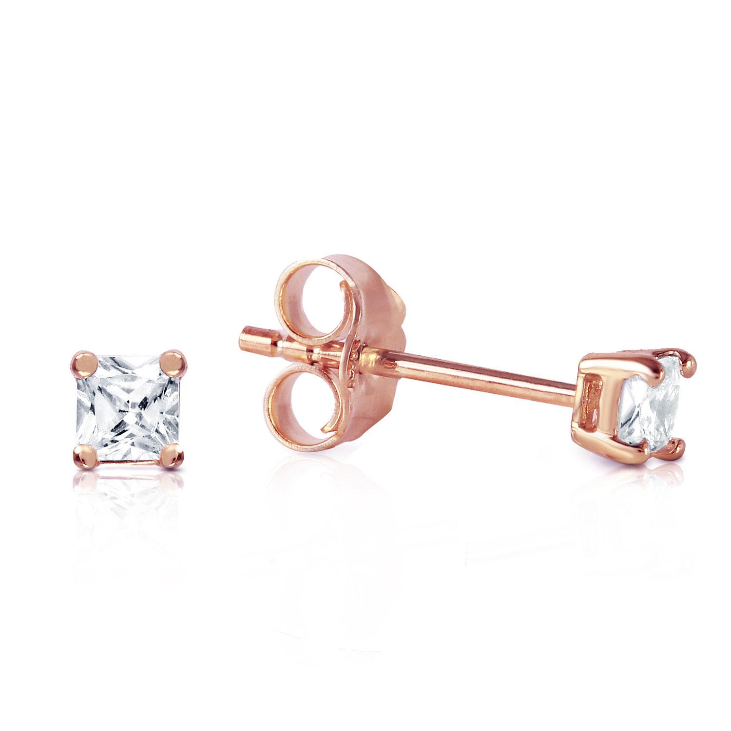 Diamond Stud Earrings 0.25 ctw in 9ct Rose Gold