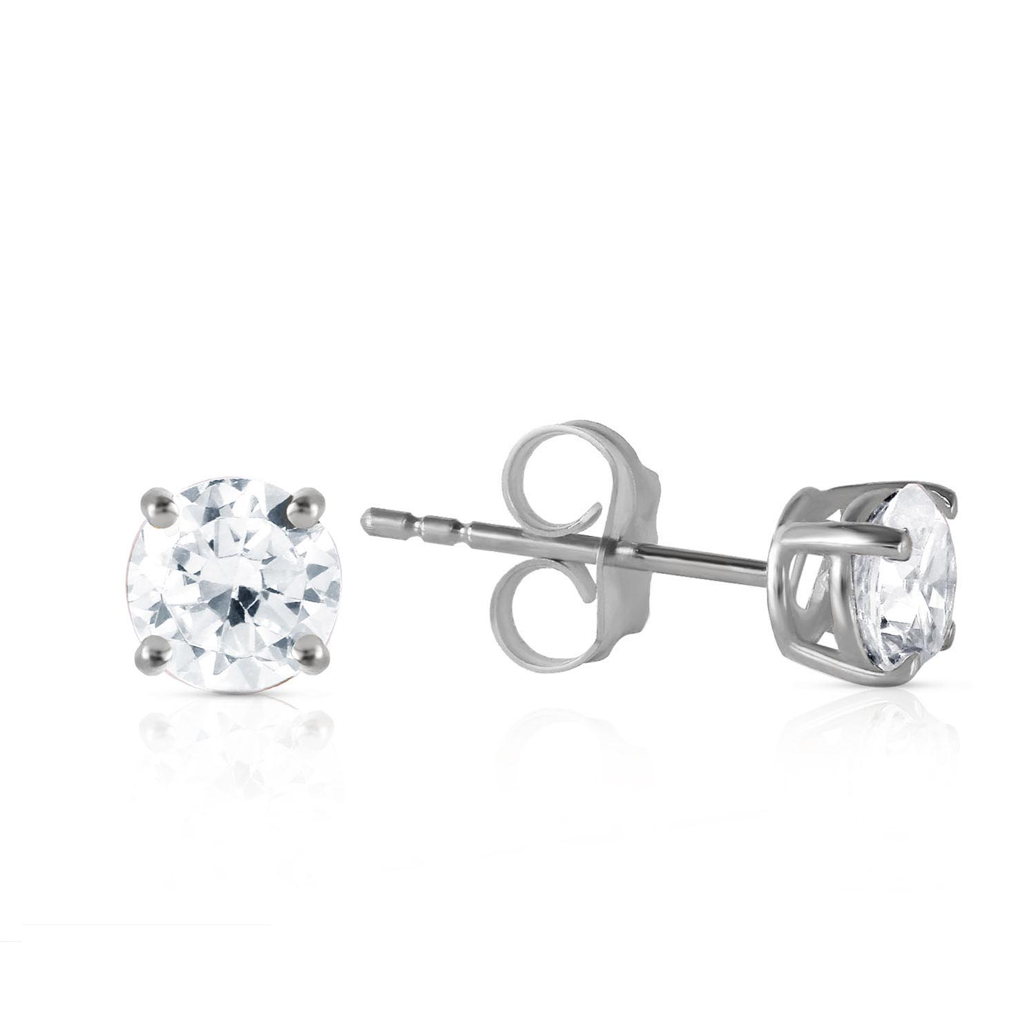 Diamond Stud Earrings 0.6 ctw in 9ct White Gold