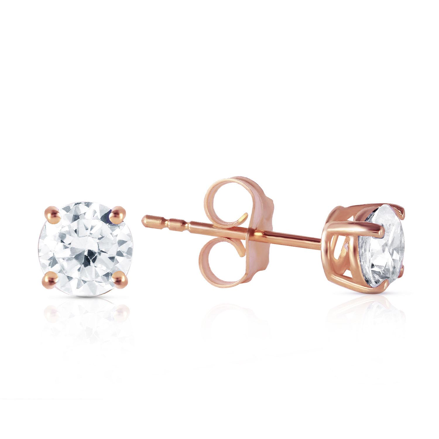 Diamond Stud Earrings 0.7 ctw in 9ct Rose Gold