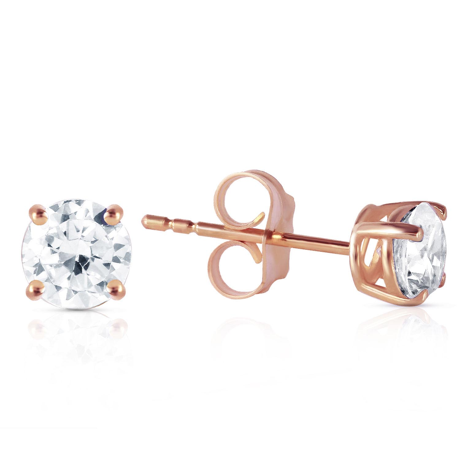 Diamond Stud Earrings 0.8 ctw in 9ct Rose Gold