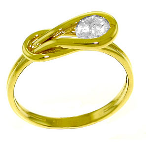 Diamond Twist Ring in 18ct Gold