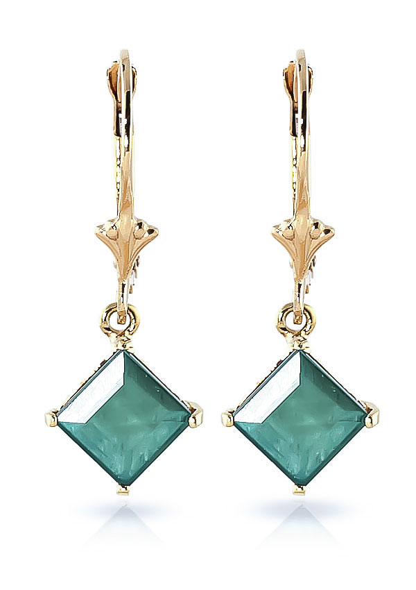 Emerald Alexandra Drop Earrings 2.9 ctw in 9ct Gold