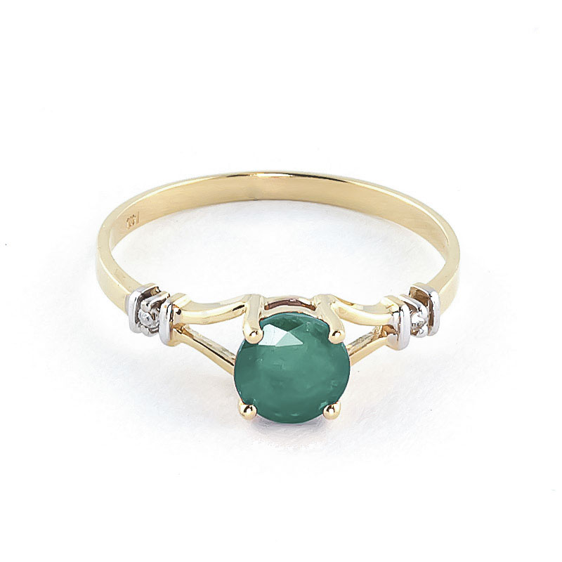 Emerald & Diamond Aspire Ring in 9ct Gold