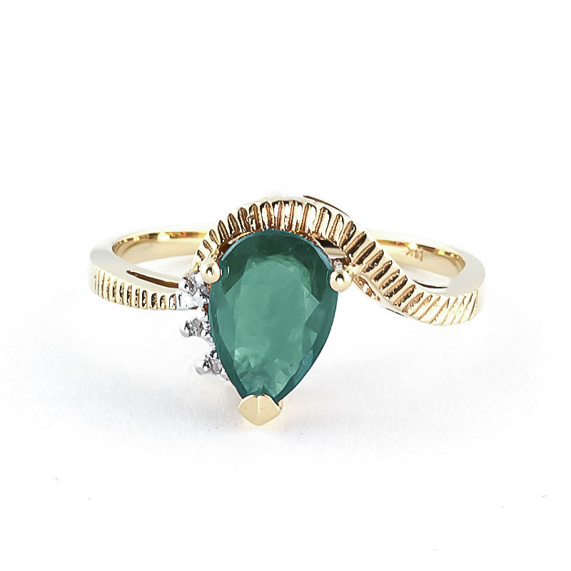 Emerald & Diamond Belle Ring in 18ct Gold