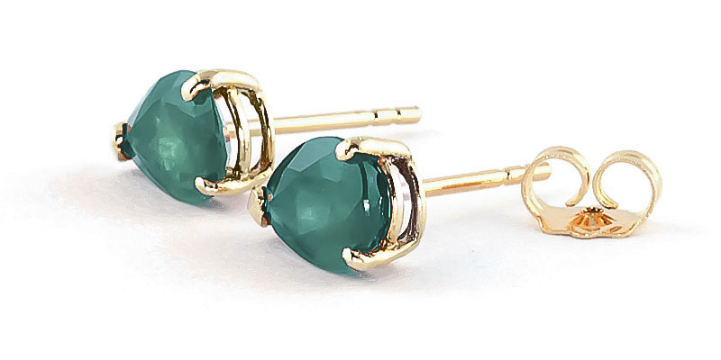 Emerald Stud Earrings 2 ctw in 9ct Gold